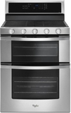 "WGG745S0FS Whirlpool 30"" Freestanding Gas Range with 5 Sealed Burners, Dual Ovens, 6 cu. ft. Capacity and  Frozen Bake Technology - Stainless Steel"