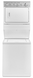 "WGTLV27FW Whirlpool 27"" Long Vent Stacked Laundry Center Washer + Gas Dryer with Long Vent Design and Tumble Press Cycle - White"