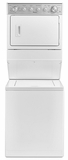 "WGTLV27FW Whirlpool 27"" Long Vent Gas Stacked Laundry Center with Long Vent Design and Tumble Press Cycle - White"