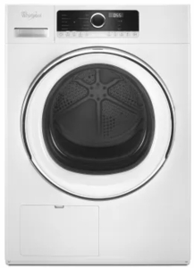 "WHD5090GW Whirlpool 24"" 4.3 cu. ft. True Ventless Heat Pump Compact Dryer with Wrinkle Shield Option and Refresh Cycle - White"