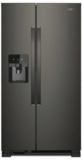 Whilrpool Side by Side Refrigerators Black Stainless Steel
