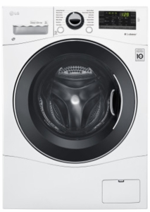 """WM1388HW LG 24"""" 2.2 cu.ft. Compact Front Load Washer with 14 Wash Cycles and Speed Wash - White"""