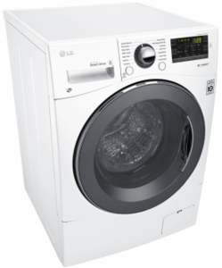 "WM1388HW LG 24"" 2.2 cu.ft. Compact Front Load Washer with 14 Wash Cycles and SmartThinQ Technology - White"