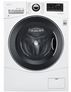 """WM3488HW LG 24"""" Compact All-In-One Ventless Washer and Dryer with 2.3 Cu. Ft. Capacity - White"""