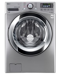 "WM3670HVA LG 27"" 4.5 cu. ft. Ultra Large Capacity Front Load Washer with Steam Technology - Graphite Steel"