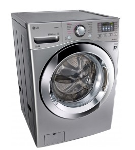 """WM3670HVA LG 27"""" 4.5 cu. ft. Ultra Large Capacity Front Load Washer with Steam Technology - Graphite Steel"""