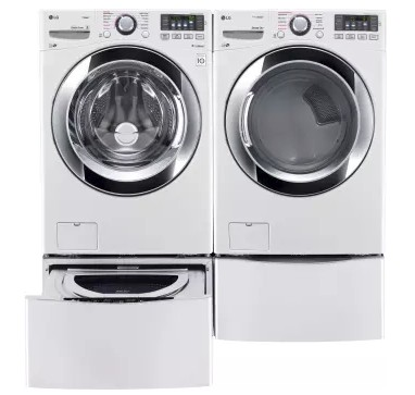 "WM3670HWA LG 27"" 4.5 cu. ft. Ultra Large Capacity Front Load Washer with Steam Technology - White"