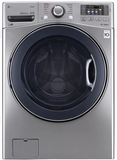 "WM3370HVA LG 27"" 4.5 cu. ft. Ultra Large Capacity Front Load Washer with Steam Options and TurboWash - Graphite Steel"