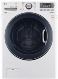 "WM3370HWA LG 27"" 4.5 cu. ft. Ultra Large Capacity Front Load Washer with Steam Options and TurboWash - White"