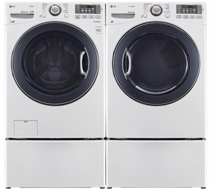 """WM3770HWA LG 27"""" 4.5 cu. ft. Ultra Large Capacity Front Load Washer with Steam Options and TurboWash - White"""