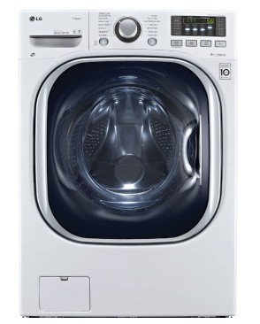 """WM3997HWA LG 27"""" Turbo Wash Series Electric Washer-Dryer Combo with ColdWash Option and Steam Technology - White"""