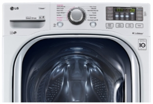 """WM4370HWA LG 27"""" 4.5 cu. ft. Ultra Large Capacity Front Load Washer with Coldwash Technology and NFC Tag On - White"""