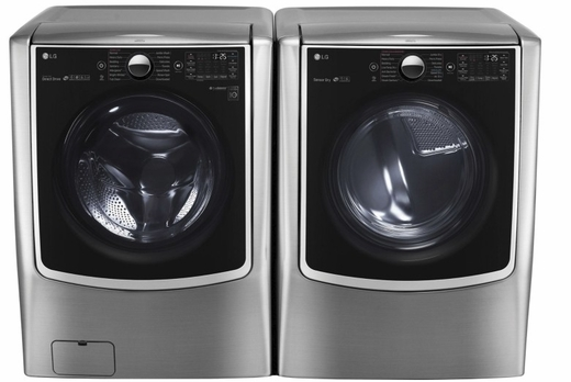 "WM5000HVA LG 27"" 4.5 Cu. Ft. 14-Cycle High-Efficiency Front-Loading Washer with Steam - Graphite Steel"
