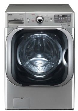 "WM8100HVA LG 29"" 5.2 cu. ft. Mega Capacity Front Load Washer with Steam Technology and SenseClean System - Graphite Steel"