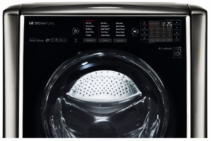"""WM9500HKA LG Signature 30"""" 5.8 cu. ft. TurboWash Front Load Washer with 14 Wash Programs and Sense Clean - Black Stainless Steel"""