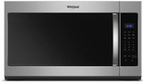 "WMH31017HS Whirlpool 30"" 1.7 Cu. Ft. Over-the-Range Microwave Hood Combination with Electronic Touch Controls and 300 CFM - Stainless Steel"