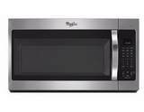 WMH32519FZ Whirlpool 1.9 Cu. Ft. Over-the-Range Microwave with Sensor Controls and 300 CFM - Fingerprint Resistant Stainless Steel