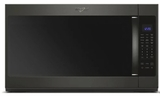 "WMH5351HV Whirlpool 30"" 2.1 Cu. Ft. Over-the-Range Microwave Hood Combination with Sensor Cooking and CleanRelease Interior - Black Stainless Steel"