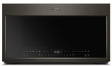 "WMH75021HV Whirlpool 30"" 2.1 Cu. Ft. Over the Range Microwave with Steam Cooking and Steam Clean - Black Stainless Steel"