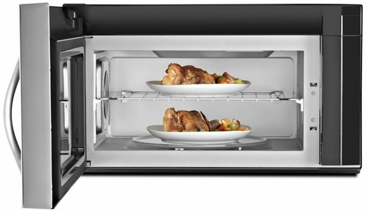 Wmh76719cs Whirlpool 1 9 Cu Ft Over The Range Microwave With True Convection Stainless Steel
