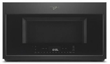 """WMH78019HB Whirlpool 30"""" 1.9 Cu. Ft. Over the Range Microwave with Steam Cooking and Scan-to-Cook - Black"""