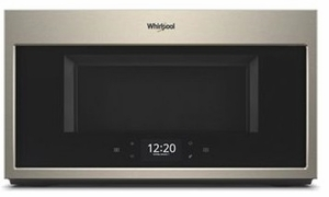 "WMHA9019HN Whirlpool 30"" 1.9 Cu. Ft. Over-the-Range Microwave Hood Combination with Scan To Connect Technology and 400 CFM - Fingerprint Resistant Sunset Bronze"