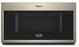 """WMHA9019HN Whirlpool 30"""" 1.9 Cu. Ft. Over-the-Range Microwave Hood Combination with Scan To Connect Technology and 400 CFM - Fingerprint Resistant Sunset Bronze"""