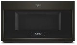 """WMH9019HV Whirlpool 30"""" 1.9 Cu. Ft. Over-the-Range Microwave Hood Combination with Scan To Connect Technology and 400 CFM - Fingerprint Resistant Black Stainless Steel"""