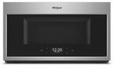 """WMHA9019HZ Whirlpool 30"""" 1.9 Cu. Ft. Over-the-Range Microwave Hood Combination with Scan To Connect Technology and 400 CFM - Fingerprint Resistant Stainless Steel"""