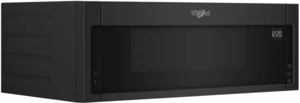 """WML55011HB Whirlpool Low Profile 30"""" 1.1 cu. ft. Over-the-Range Microwave with Tap-to-Open Door and 400 CFM Venting System - Black"""