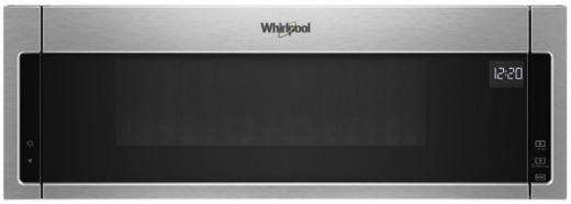 "WML55011HS Whirlpool Low Profile 30"" 1.1 cu. ft. Over-the-Range Microwave with Tap-to-Open Door and 400 CFM Venting System - Stainless Steel"