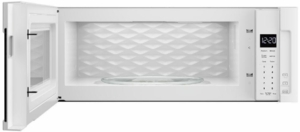 "WML55011HW Whirlpool Low Profile 30"" 1.1 cu. ft. Over-the-Range Microwave with Tap-to-Open Door and 400 CFM Venting System - White"