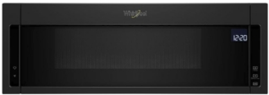 """WML75011HB Whirlpool 30"""" 1.1 cu. ft. Over the Range Low Profile Microwave Hood Combination  with Tap-to-Open Door and 400 CFM Venting System - Black"""