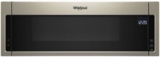 """WML75011HN Whirlpool Profile 30"""" 1.1 cu. ft. Over the Range Low Profile Microwave Hood Combination  with Tap-to-Open Door and 400 CFM Venting System - Sunset Bronze"""