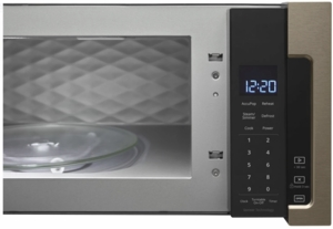 "WML75011HN Whirlpool Profile 30"" 1.1 cu. ft. Over the Range Low Profile Microwave Hood Combination  with Tap-to-Open Door and 400 CFM Venting System - Sunset Bronze"