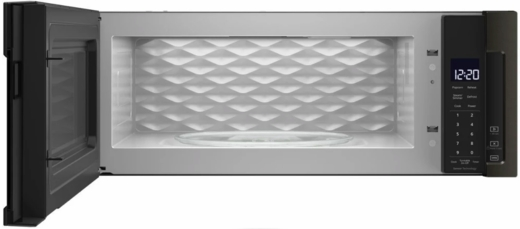 """WML75011HV Whirlpool Profile 30"""" 1.1 cu. ft. Over the Range Low Profile Microwave Hood Combination  with Tap-to-Open Door and 400 CFM Venting System - Black Stainless Steel"""