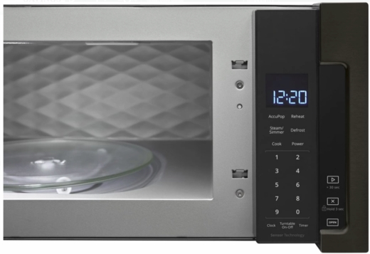 "WML75011HV Whirlpool Profile 30"" 1.1 cu. ft. Over the Range Low Profile Microwave Hood Combination  with Tap-to-Open Door and 400 CFM Venting System - Black Stainless Steel"