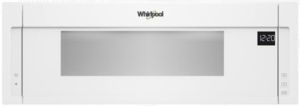 "WML75011HW Whirlpool 30"" 1.1 cu. ft. Over the Range Low Profile Microwave Hood Combination  with Tap-to-Open Door and 400 CFM Venting System - White"