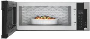 "WML75011HZ Whirlpool Profile 30"" 1.1 cu. ft. Over the Range Low Profile Microwave Hood Combination  with Tap-to-Open Door and 400 CFM Venting System - Fingerprint Resistant Stainless Steel"