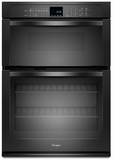 """WOC54EC0AB Whirlpool 30"""" Combination Microwave Wall Oven with SteamClean Option - Black"""