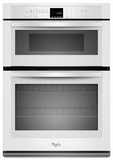 """WOC54EC0AW Whirlpool 30"""" Combination Microwave Wall Oven with SteamClean Option - White"""