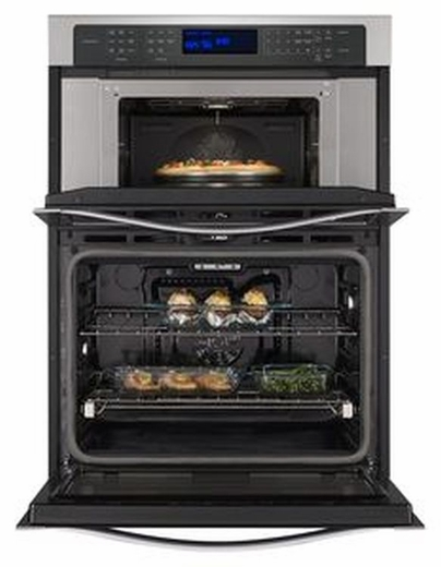 "WOC97ES0ES Whirlpool 30"" Wide 6.4 Cu. Ft. Combination Wall Oven with True Convection Microwave - Stainless Steel"