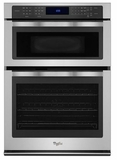 """WOC97ES0ES Whirlpool 30"""" Wide 6.4 Cu. Ft. Combination Wall Oven with True Convection Microwave - Stainless Steel"""