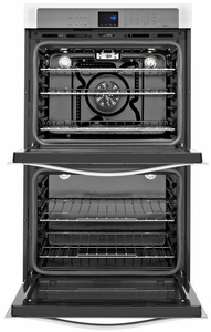 WOD93EC0AB Whirlpool 30 Inch Wide 5.0 cu. ft. Double Wall Oven with the True Convection Cooking - Black