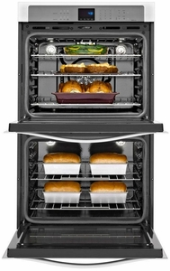 WOD93EC7AS Whirlpool 27 Inch Wide 4.3 cu. ft. Double Wall Oven with True Convection Cooking - Stainless Steel