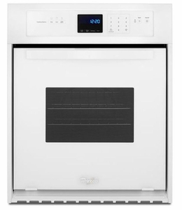 """WOS11EM4EW Whirlpool 24"""" 3.1 Cu. Ft. Single Wall Oven with AccuBake System - White"""