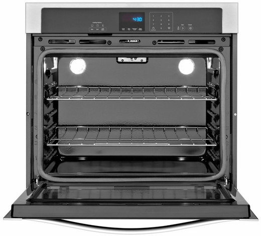 WOS51EC0AB Whirlpool 30 Inch Wide 5.0 cu. ft. Single Wall Oven with extra-large window - Black