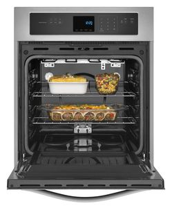 WOS51ES4ES Whirlpool 24 Inch Wide 3.1 Cu. Ft. Single Wall Oven with High Heat Self Cleaning System - Stainless Steel