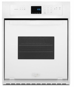 WOS51ES4EW Whirlpool 24 Inch Wide 3.1 Cu. Ft. Single Wall Oven with High Heat Self Cleaning System - White