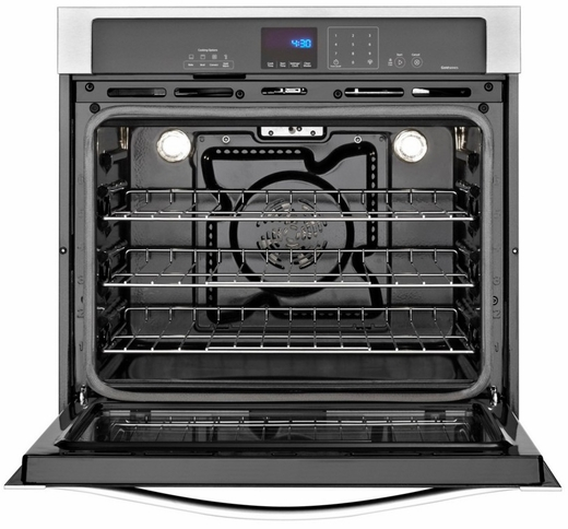 WOS92EC7AS Whirlpool 27 Inch Wide 4.3 cu. ft. Single Wall Oven with True Convection Cooking - Stainless Steel